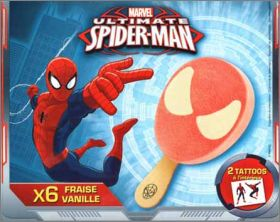 Ultimate Spiderman - 8 Tatouages - Glaces Rolland - 2015