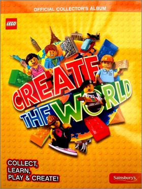 Lego Create the World - Album de cards -  Sainsbury's 2017