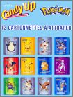 "Pokémon - 12 cartonnettes ""à attraper""  Candy'up - 2019"