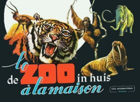 Le Zoo à la Maison / De Zoo in Huis Sticker album - Cox 1970