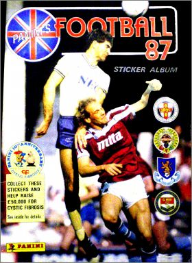 Football 87 - Sticker Album Panini's -  Angleterre