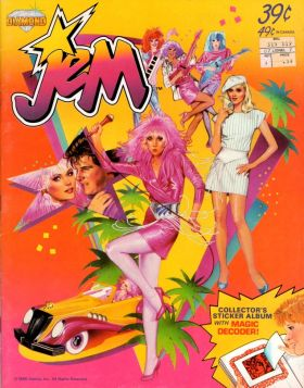 Jem - Sticker Album - Diamond - USA / Canada - 1986
