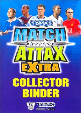 Match Attax Extra 2008 - 2009 – Trading Cards - Angleterre